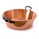 MAUVIEL 4413 - M'passion Collection - Not hammered Copper Jam Pan with cast iron handles