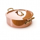 MAUVIEL 6506 - M'héritage Collection - Copper Rondeau stainless steel  inside with bronze handles professional line 2,5 mm