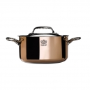 De BUYER 6242 - Prima Matera Induction Collection - Copper stewpan with lid stainless steel inside