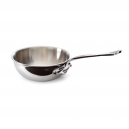 MAUVIEL 5212 - M'cook Collection - Curved Splayed Saute Pan in stainless steel with cast stainless steel handle