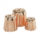 "De Buyer 6820 - Copper & tin inside ""cannelés"" molds"