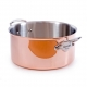 MAUVIEL 6131 - M'héritage Collection - Copper & stainless steel Stewpan with copper lid, cast stainless steel handles