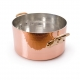 MAUVIEL 2151 - M'tradition Collection - Copper & Tin Stewpan bronze handles with lid